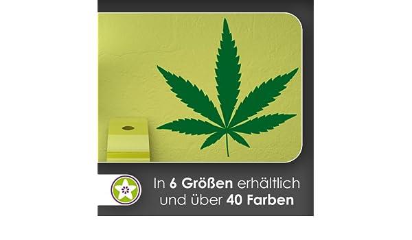 Cáñamo - adhesivo decorativo para pared con hoja de marihuana en 6 ...