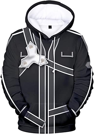 Sword Art Online Men//Women Sweater 3D Print Hoodie Pullover Sweatshirt Costume