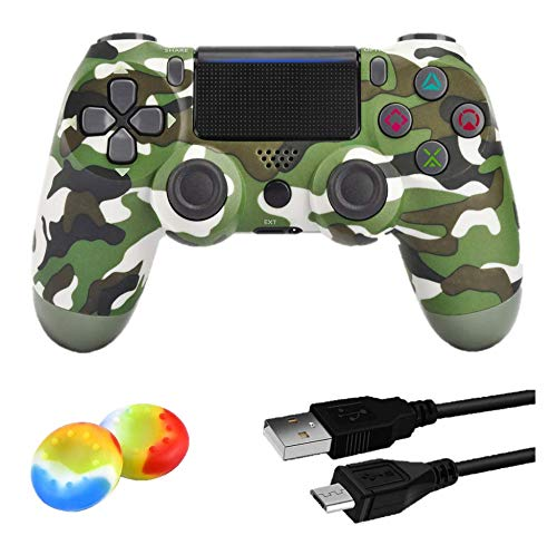 Juego Game Controller for PS4,Wireless Controller for Playstation 4/ Windows/ Android/iOS, Red