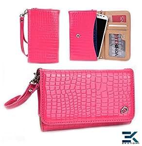 [Diva] Sony Xperia J Case - PINK   Women's Wallet Shoulder Bag Universal Phone Clutch. Bonus Ekatomi Screen Cleaner