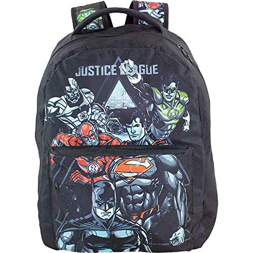 Mochila Escolar, Liga da Justiça, 9064, Preto