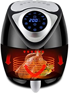 BTSSA Air Fryer,Electric Hot Air Fryers Oven Oilless Cooker,7 Cooking Preset, Preheat&Shake Remind, Temperature Up to 200 Degrees,Nonstick Basket,13 00W,2.6L