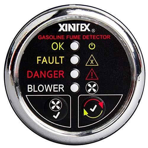 Xintex Gasoline Fume Detector & Blower Control W/Plastic Sensor - Chrome Bezel Display