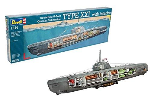 Revell Germany 05078 1/144 U-Boat Type XXI w/Interior RVL05078