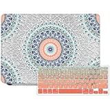 DQQH MacBook Air 11 inch case with Keyboard Cover,Only Compatible MacBook Air 11 inch Model A1370 A1465 - Boho Mandala
