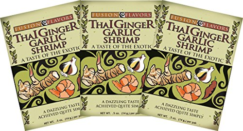 Fusion Flavors Olive Oil Bread Dipping Spices (Thai Ginger Garlic Shrimp 3 Pack)