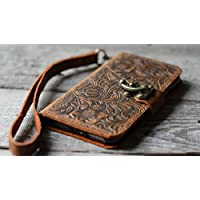 handmade Genuine leather wallet case fit iphone 7 plus 5.5