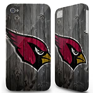 Iphone 4/4s Case Cover Skin - Sports team Arizona Cardinals Wood