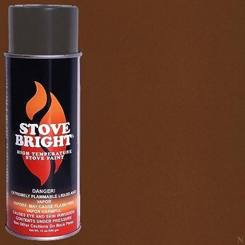 Stove Bright TI-8102 High Temperature Paint, 1200 Degree F Operating Temperature Range, 12 oz Aerosol, Russet