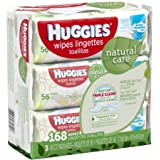 Huggies Natural Care Baby Wipes, Refill, Unscented,...