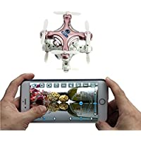 ZV Drone Nano Drone With Camera Super Mini Quadcopter with Camera Control by iPhone And Android SmartPhone (Pink)