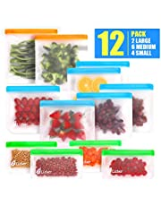 Lizber Reusable Storage Bags, Sandwich Bags Snack Bags