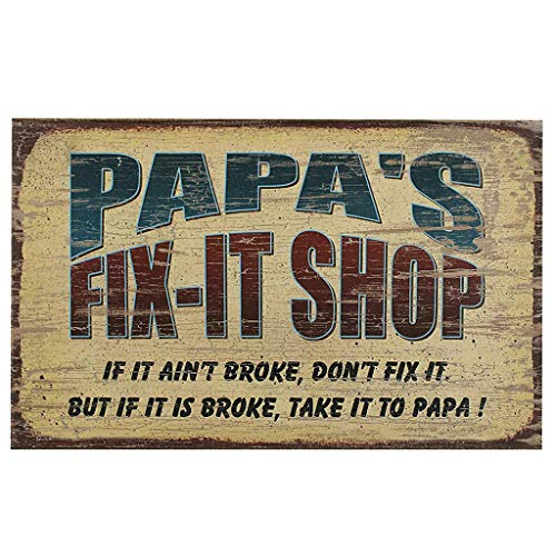- Karooch Vintage Iron Signs Metal Poster Auto Fix-it Gasoline Garage Shop Bar Home Wall Decoration (Different Slogan Metal Wall Sign, 11.81