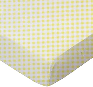 product image for SheetWorld Fitted 100% Cotton Jersey Square Play Yard Sheet Fits Joovy 38 x 38, Yellow Gingham Jersey, Made in USA