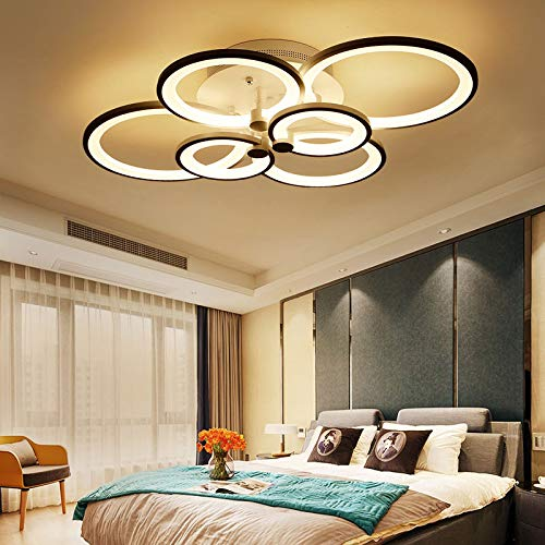 CITRA M0061/6 6 Light Round Brown Body Modern LED Chandelier Lamp - Warm White