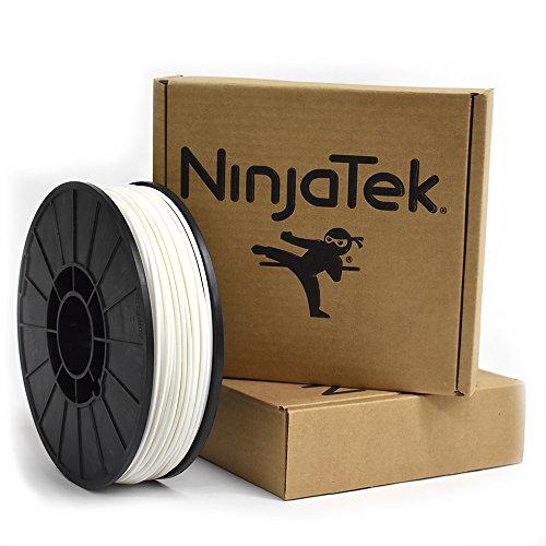 NinjaTek 3DCH00129010 NinjaTek Cheetah TPU Filament, 3.00mm, TPE, 1kg, Snow (White) (Pack of 1)