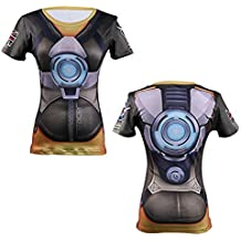 AestheticCosplay Overwatch Tracer T-Shirt | Tracer 3D Inspired Design | Tracer Compression Short Sleeve Tshirt