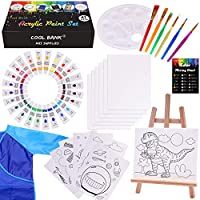 47-Piece Cool Bank Kid's Art Set with Table Top Easel