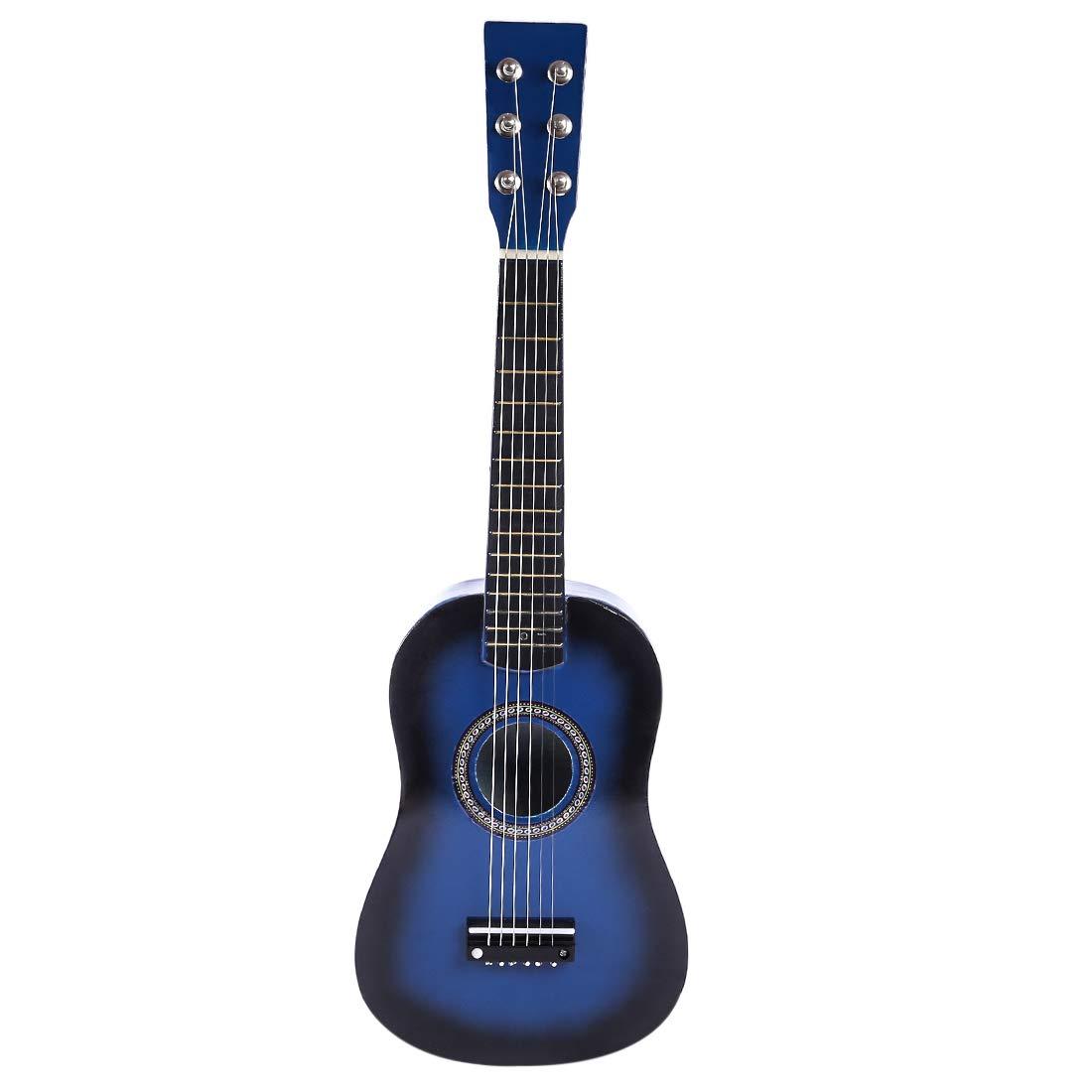 ANNA SHOP Kinder Gitarre Holz 6 Saiten Gitarre Spielzeug Musikinstrument Musik Gitarre Kinder Musikinstrumente Pä dagogisches Spielzeug fü r Jungen ab 3 Jahre