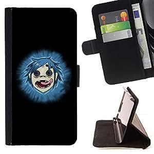 For Samsung Galaxy S6 Case , Gorilas- la tarjeta de Crédito Slots PU Funda de cuero Monedero caso cubierta de piel