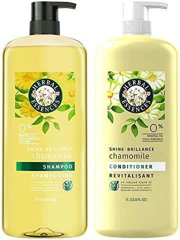 Herbal Essences Shine Collection Shampoo and Conditioner Bundle, with Chamomile, Color Safe, 33.8 Fluid Ounce