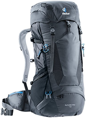 Deuter Futura PRO 40 Backpacking Pack with Detachable Rain Cover, Graphite/Black, 40 L ()