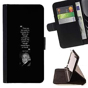 - Queen Pattern FOR Samsung Galaxy A3 /La identificaci????n del cr????dito ranuras para tarjetas tir????n de la caja Cartera de cuero cubie - albert Einstein scientist picture quo