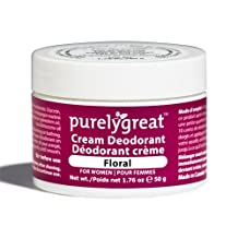 Purelygreat Natural Deodorant for Women - Floral - EWG Verified™ - Vegan