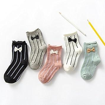 XIU*RONG Las Niñas Calcetines Calcetines De Algodón De Primavera Y Otoño, 3-