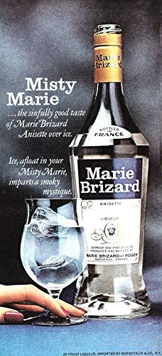 ShopForAllYou Posters & Prints Wall Rug 1977 Liquor Ad, Marie Brizard Anisette Liqueur Liquor ad Retro Poster