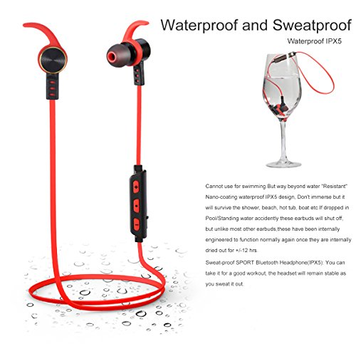 bluetooth earphone waterproof bluetooth earphones sonyxer wireless earbuds headset sport. Black Bedroom Furniture Sets. Home Design Ideas