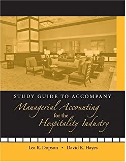 Managerial accounting for the hospitality industry lea r dopson study guide to accompany managerial accounting for the hospitality industry fandeluxe Choice Image