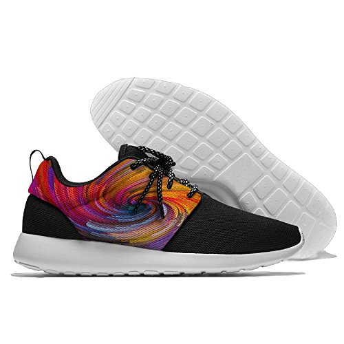 Abstract Rainbow Painting Men's Mesh Running Sports Shoes Sneakers Athletic Workout Fitness Trainers 41