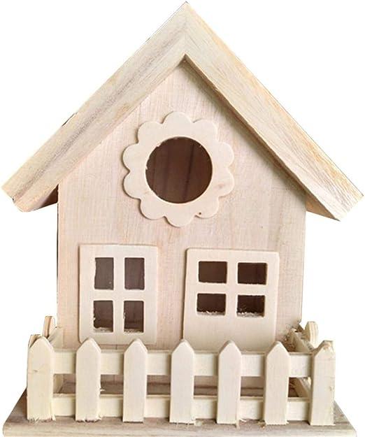 Kitabetty Casa de pájaros de Madera, Caja de cría de nidos de pájaros Colgador de pájaros para pájaros pequeños con Adornos de decoración de Techo se reúnen: Amazon.es: Productos para mascotas
