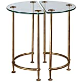 Uttermost 24337 Aralu Glass Side Tables (Set of 2)