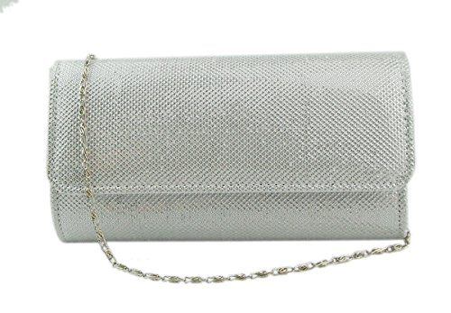 Party Clutch Silver Handbag Ivory Ball Evening Wallet Women's AITING Wedding Prom xgpYEwSq