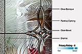 "National Door Company Z021489L 1/2 Lite 2-Panel Lenora Decorative Glass Fiberglass Smooth Primed 36""x80"" Left Hand In-swing Prehung Front Door with 12"" Sidelites"
