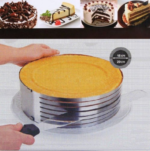 Baking Mats Stainless Adjustable Size Mousse Expandable Split Pastry Cake Ring Fondant Mould (Square Angel Food Pan compare prices)