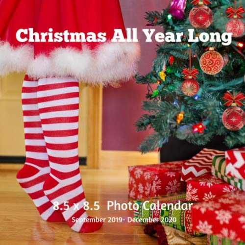 Christmas All Year Long 8.5 X  8.5 Calendar September 2019 -December 2020: Monthly Calendar with U.S./UK/ Canadian/Christian/Jewish/Muslim Holidays-Holiday Season (Long Year Christmas Tree All)