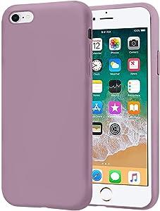 KUMEEK iPhone 6s Plus Case/iPhone 6 Plus Case, Anti-Slip Liquid Silicone Gel Rubber with Soft Microfiber Cushion Shockproof Drop Protective Case Cover for iPhone 6s Plus/6 Plus - Lavender Purple