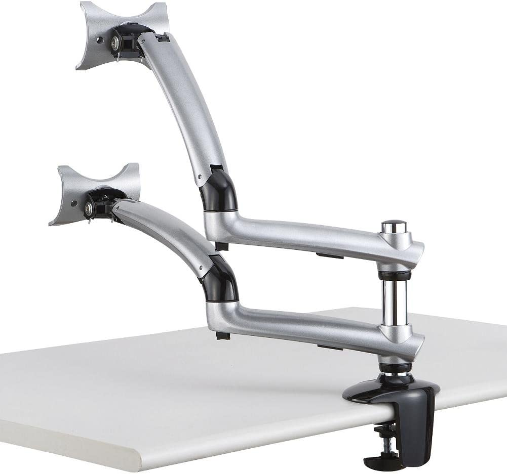 Cotytech Dual Apple Desk Mount Spring Arm Clamp Base - Silver (DM-GSDA-C)