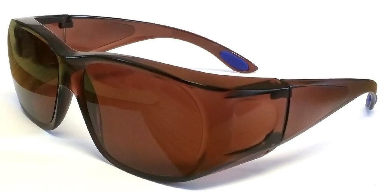 Pouch Polycarbonate Shatterproof UV400 Protection Blue Light Blocking Lens Wear Over Prescription Glasses Driving Lens Over Frame Glasses