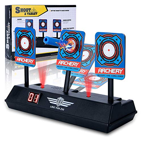 Sound Electronic Effects (Pickput Electronic Auto Reset Scoring Target, Mini Digital Target with Intelligent Light Sound Effect Target Game for Boys and Girls)