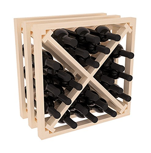 Wine Racks America Ponderosa Pine Lattice Stacking X Cube. 13 Stains to Choose From! For Sale