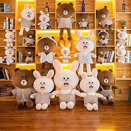 Amazon.com: Cojín de peluche con diseño de conejos y oso ...