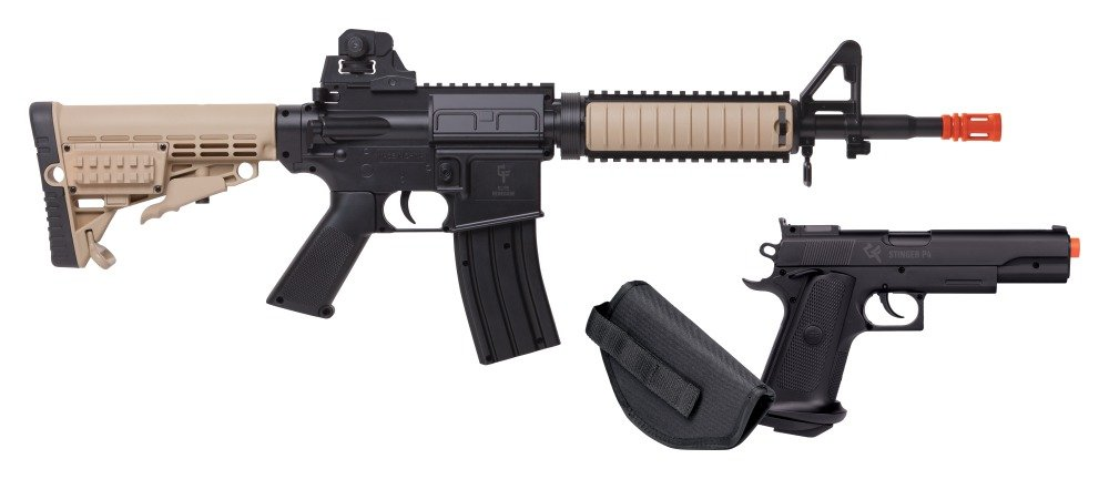 Game Face GFR37PKT Spring Powered Single Shot Rifle and Pistol Kit
