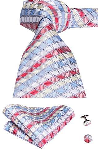 1715 A Gcid Composto Da GemelliCon Set Motivo Quadri Cravatta UomoFazzoletto Seta tie In Hi E iuXkPZ