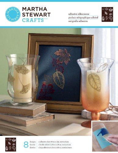 Martha Stewart Crafts Glass Silkscreen (8.5 by 11-Inch), 33235 Leaves