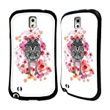 Official Monika Strigel Wolf Animals And Flowers Hybrid Case for Samsung Galaxy Note 3