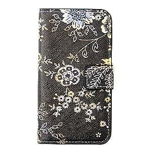 comprar Negro Flor patrón de caso completo del cuerpo para el iPhone 4/4S
